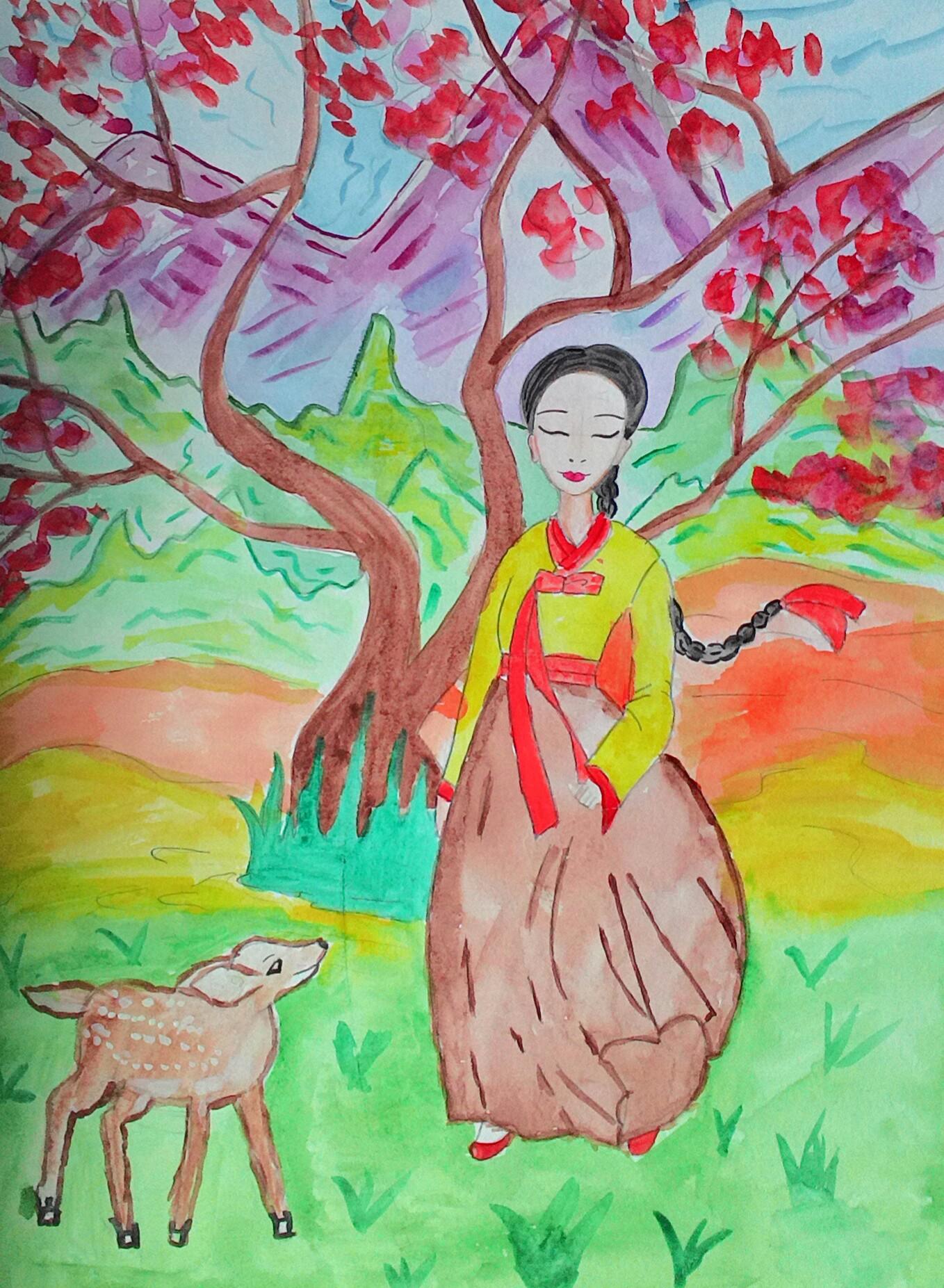 №431_Как девушка оленя спасла