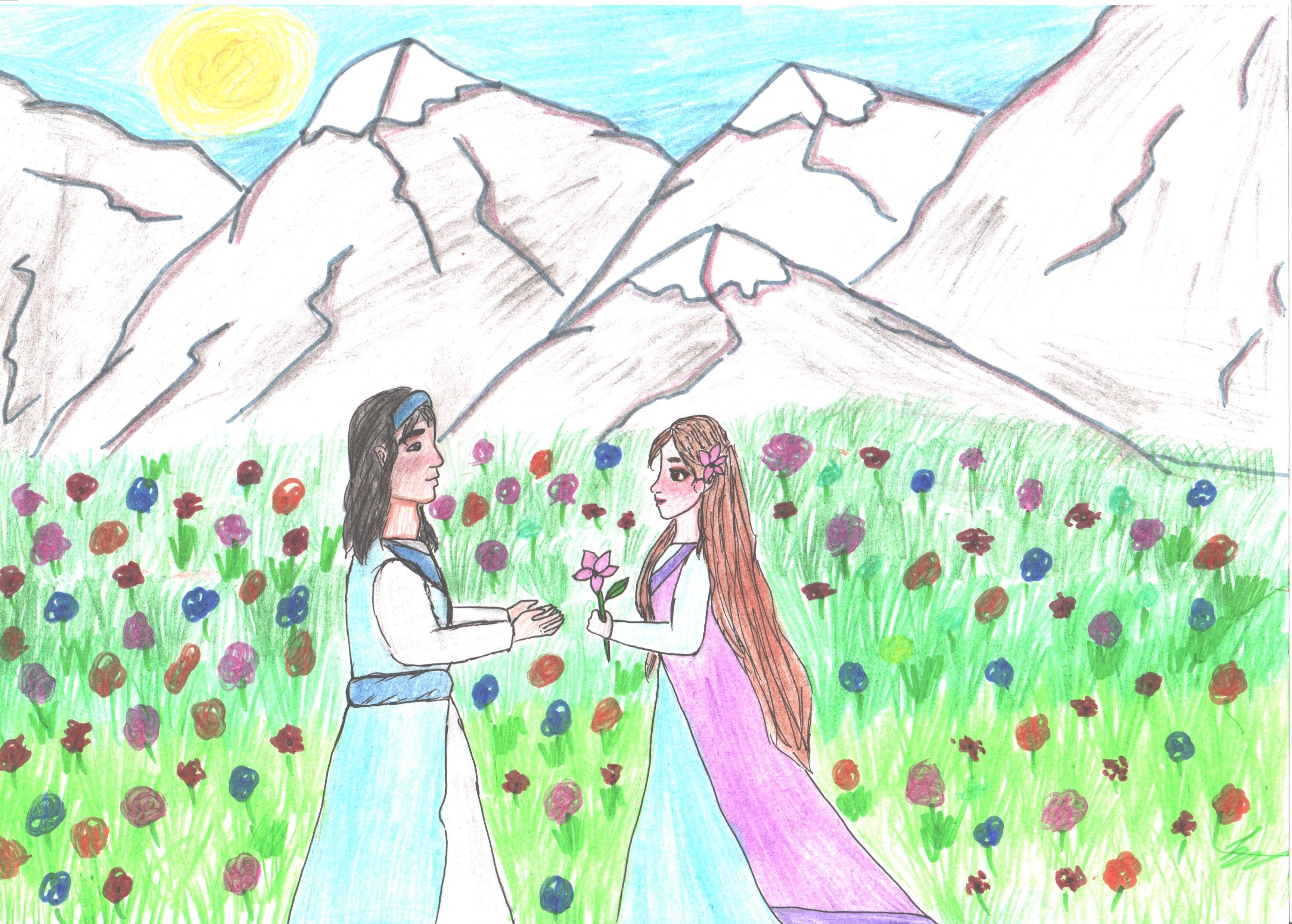 №286_Юноша и лилия