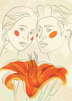 №75_Юноша и лилия