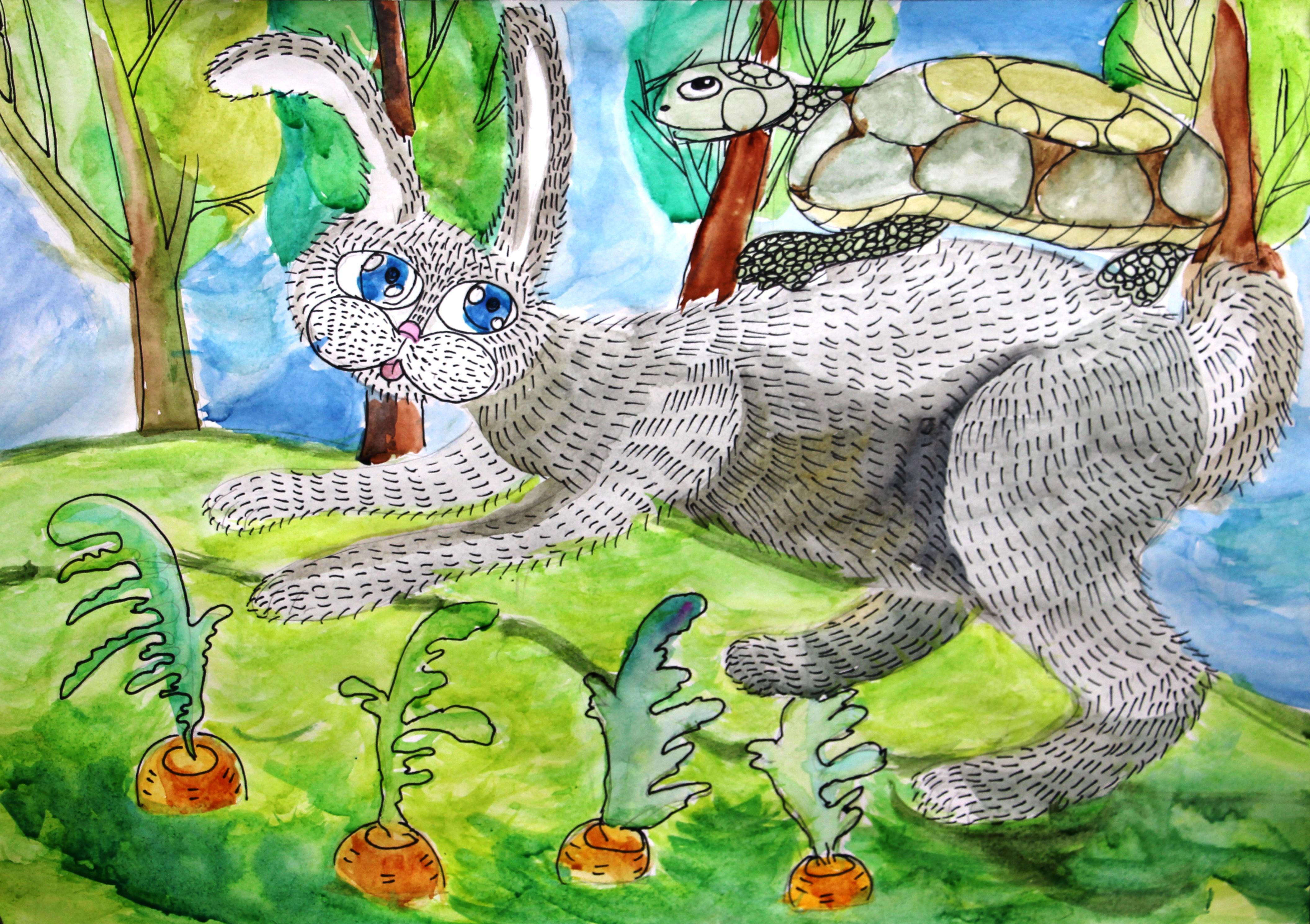 №255_Находчивый заяц