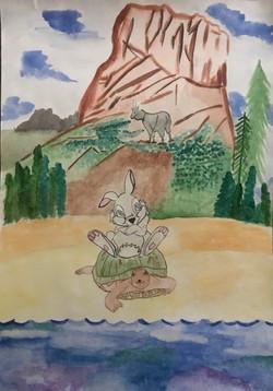 №174_Заяц и черепаха