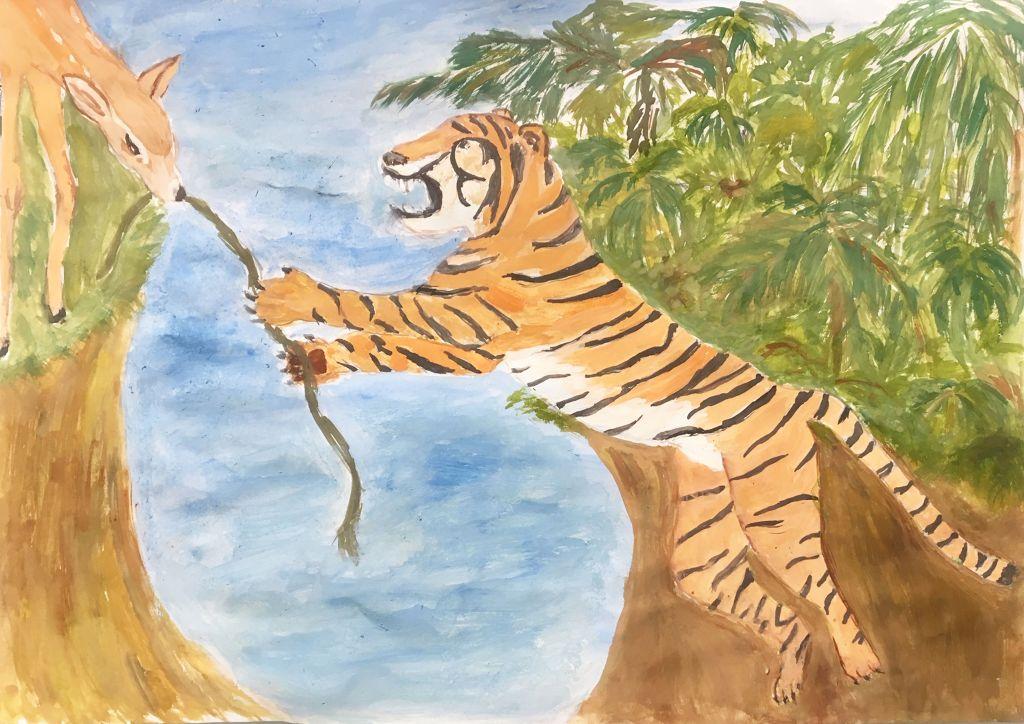 №441_Коварный Тигр и доверчивый Олененок