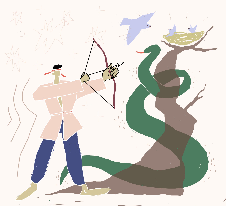 №387_Бедняк и голубка