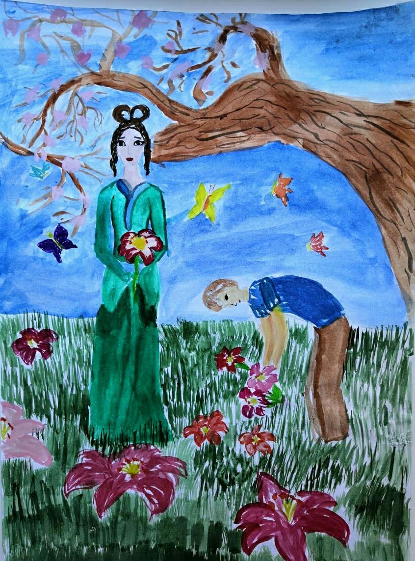 №125_Юноша и лилия