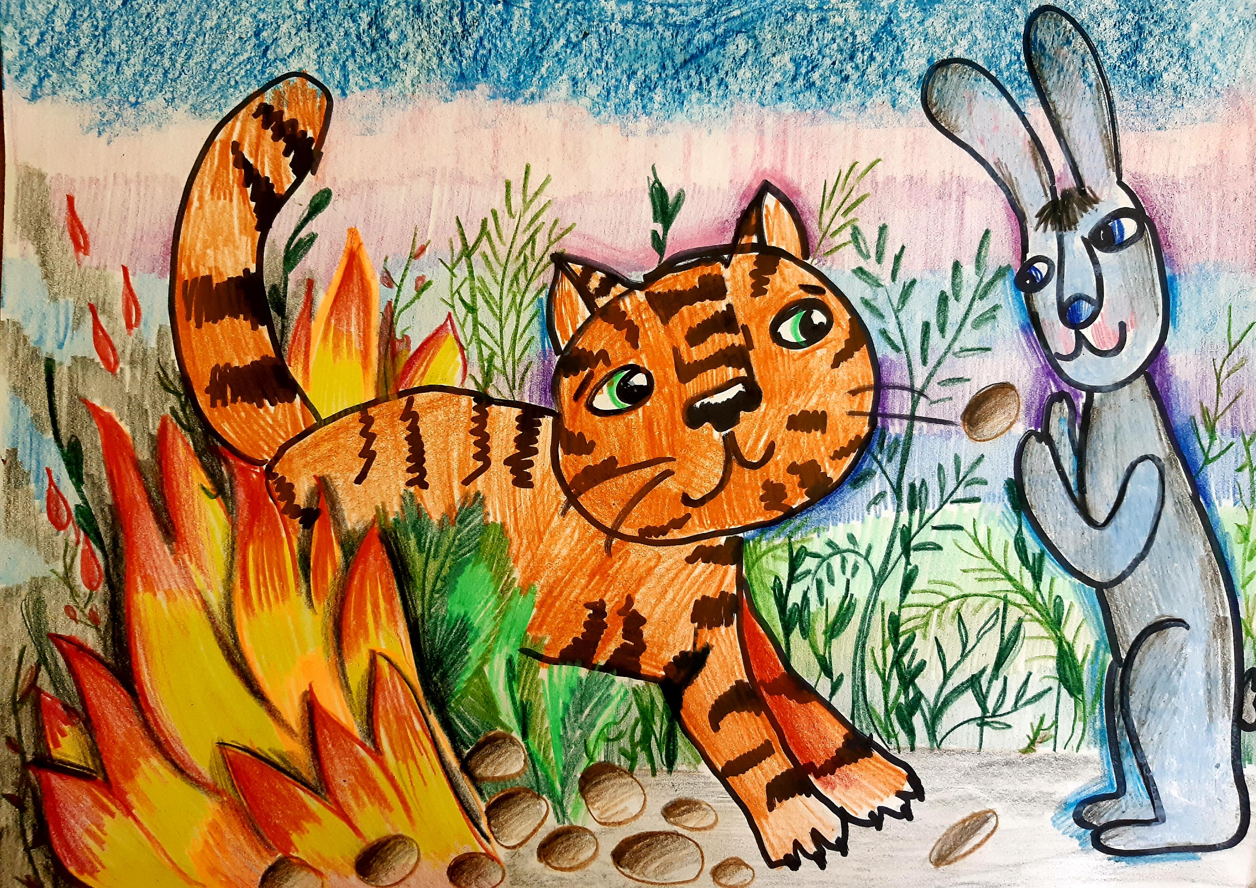 №312_Как заяц тигра перехитрил