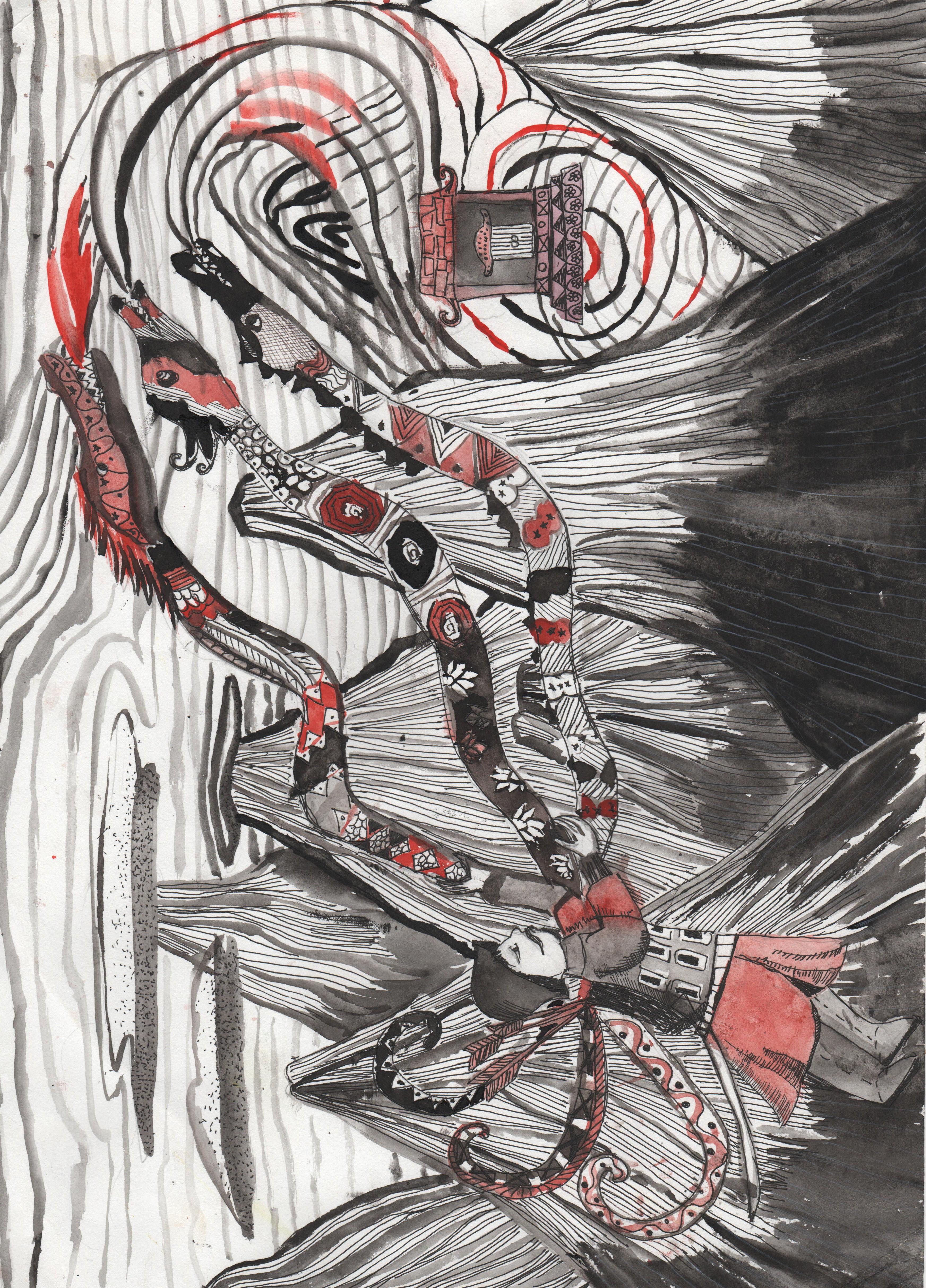 №393__Злая колдунья и Царь Дракон