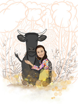 №390_Чёрная корова