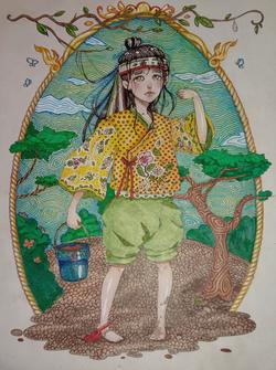 №139_Мальчик с пустым цветочным горшком.