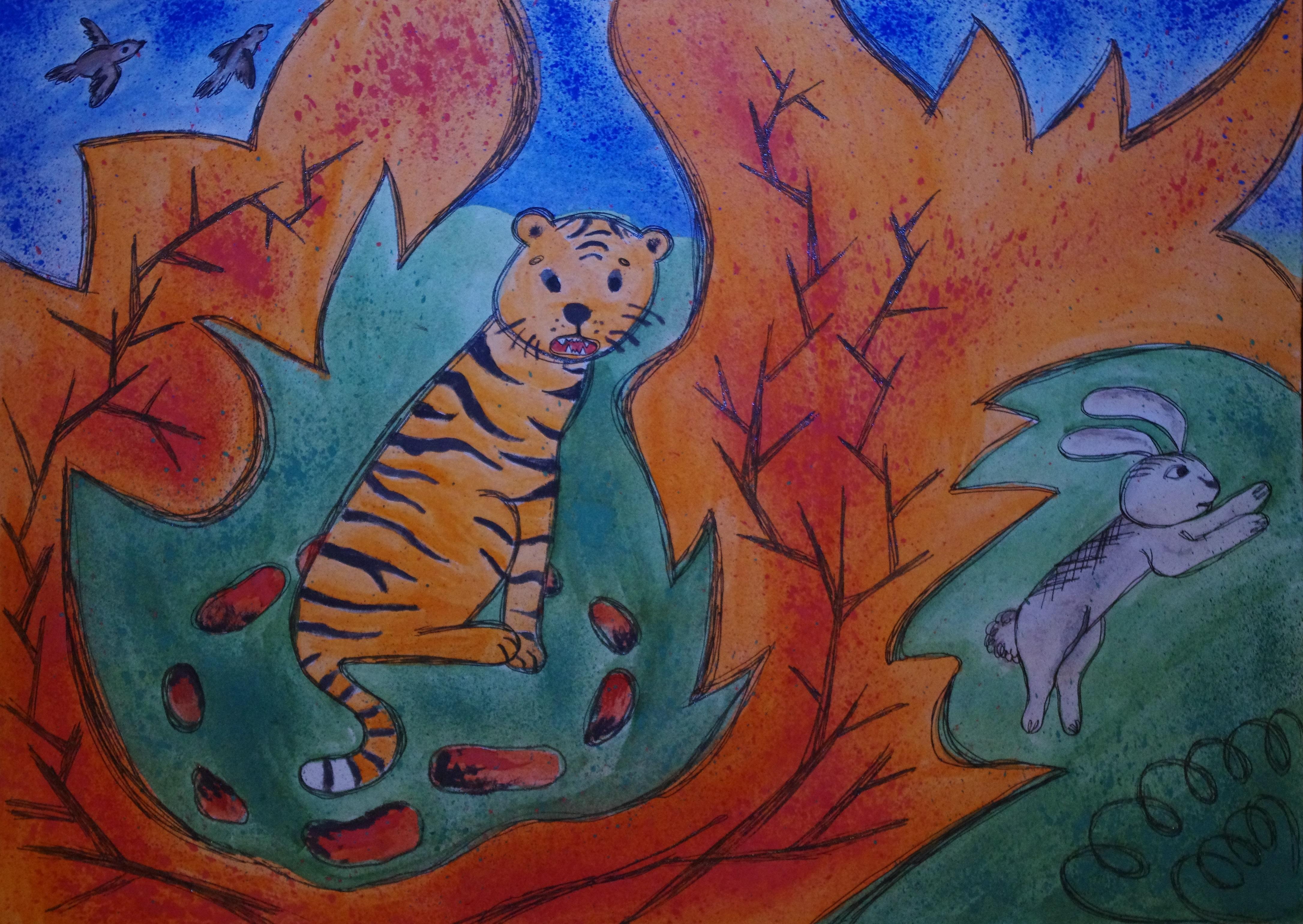 №346_Как заяц тигра перехитрил
