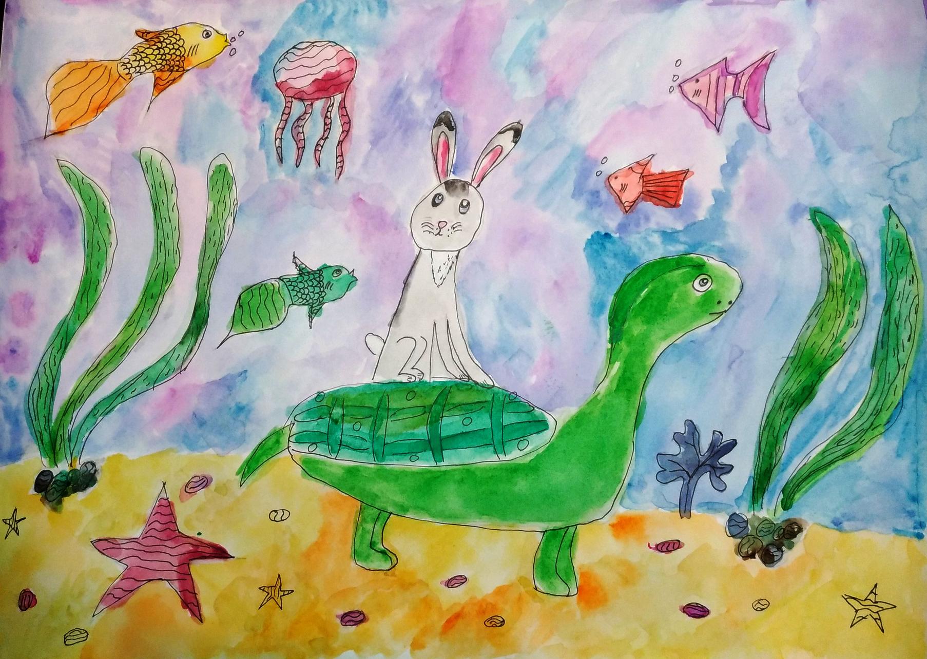№356_Заяц и черепаха