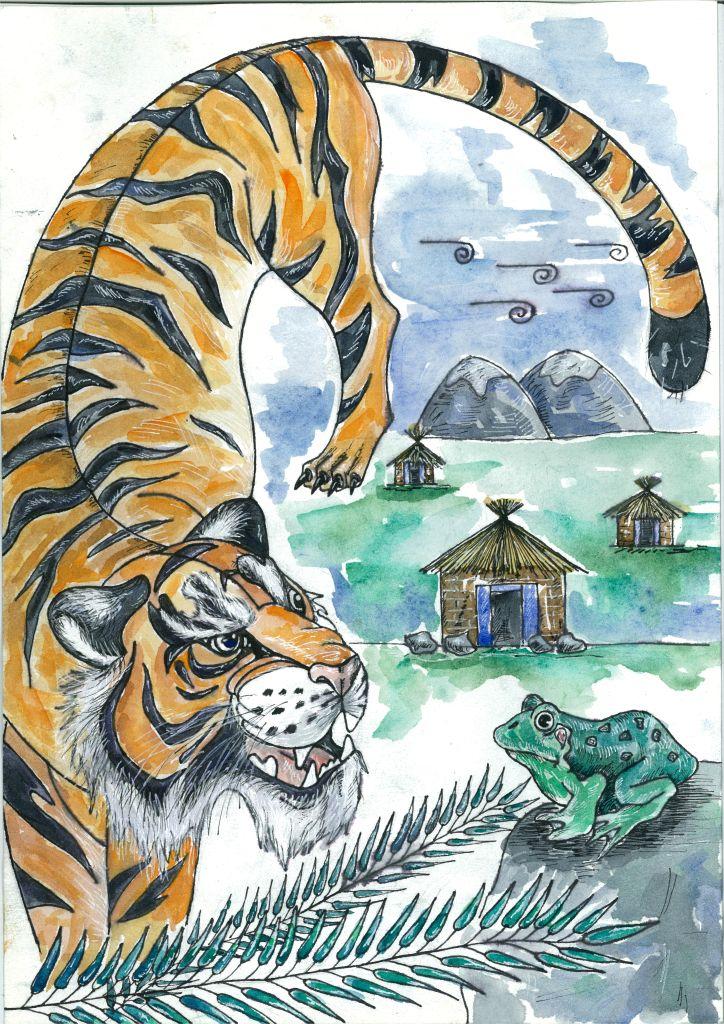 №334_Как лягушка тигра обманула