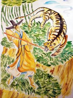 №376_Почтительный сын и тигр
