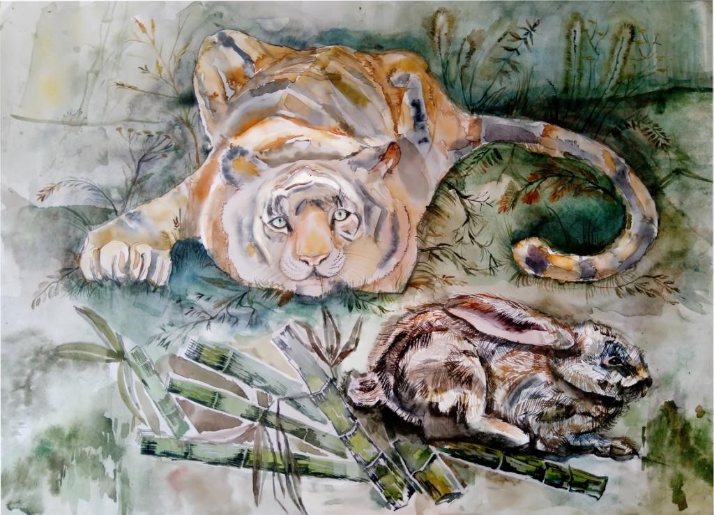 №344_Как лягушка тигра обманула