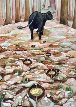 №105_Черная корова