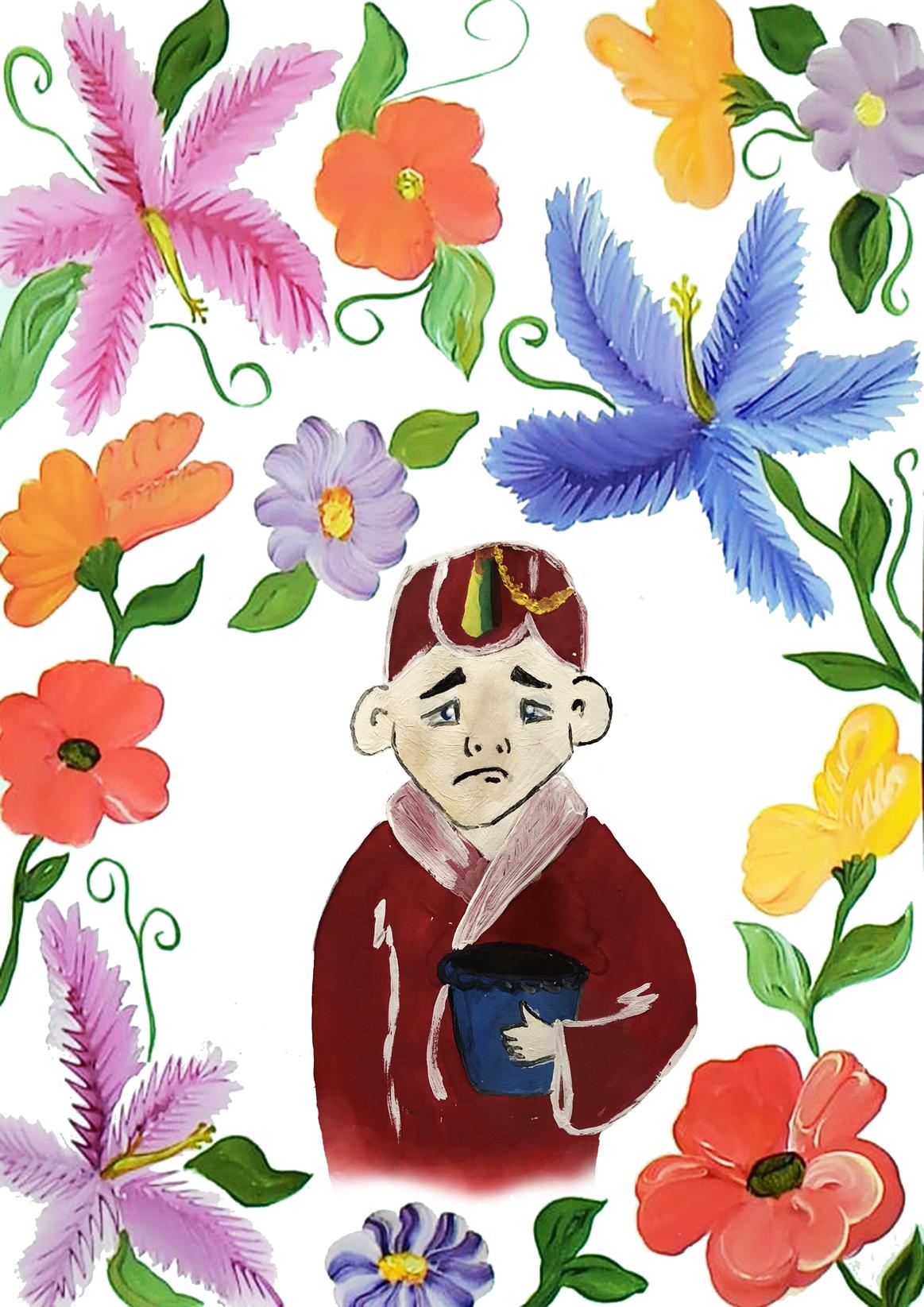 №543_Мальчик с пустым цветочным горшком.