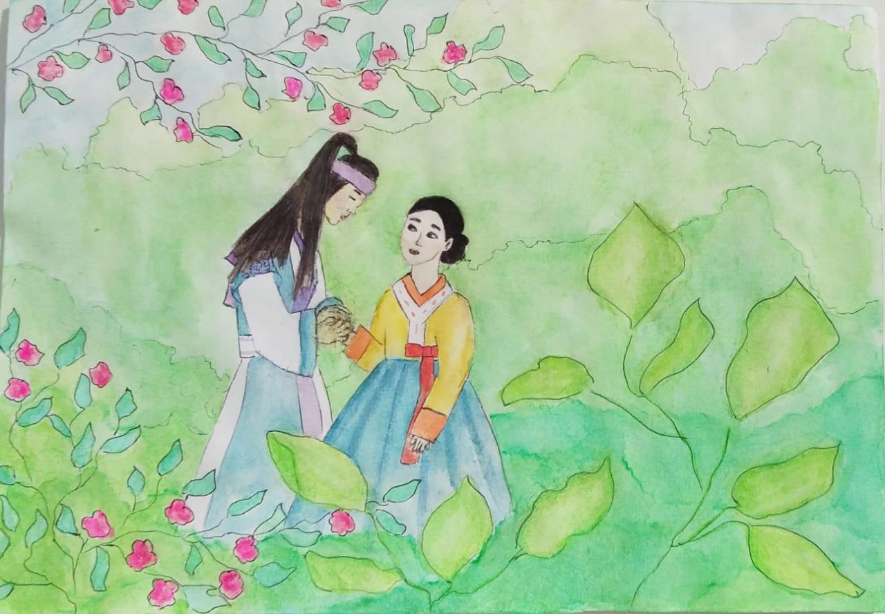 №86_Любовь юноши Пэкуна и девушки Чжэху.
