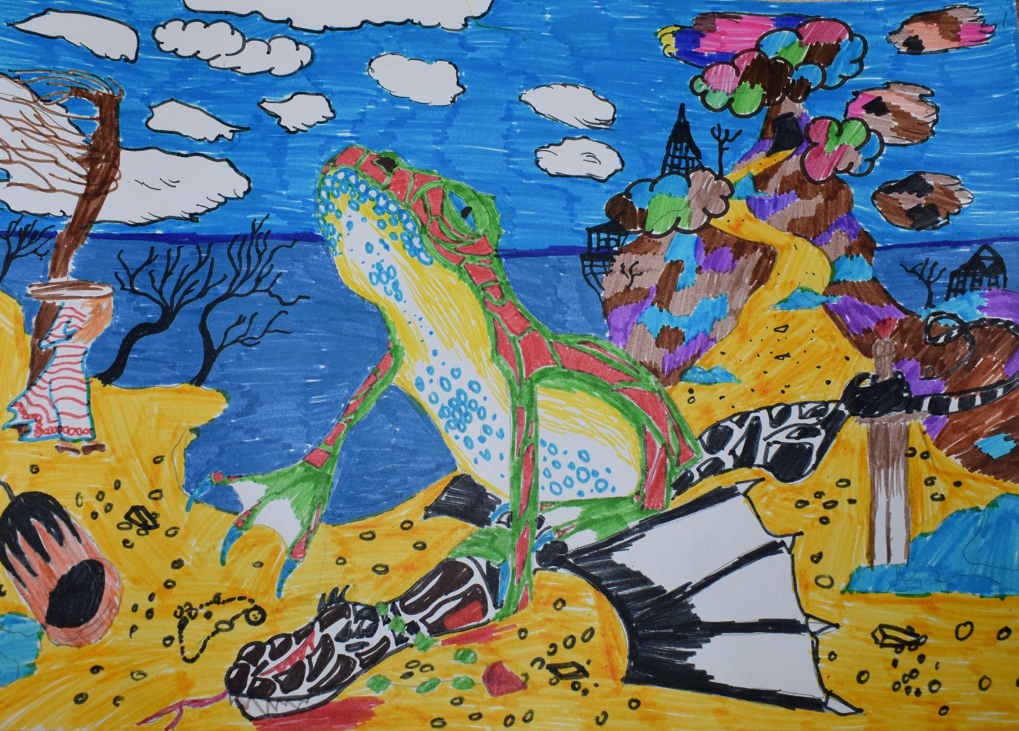 №61_Как жаба лютого змея одолела