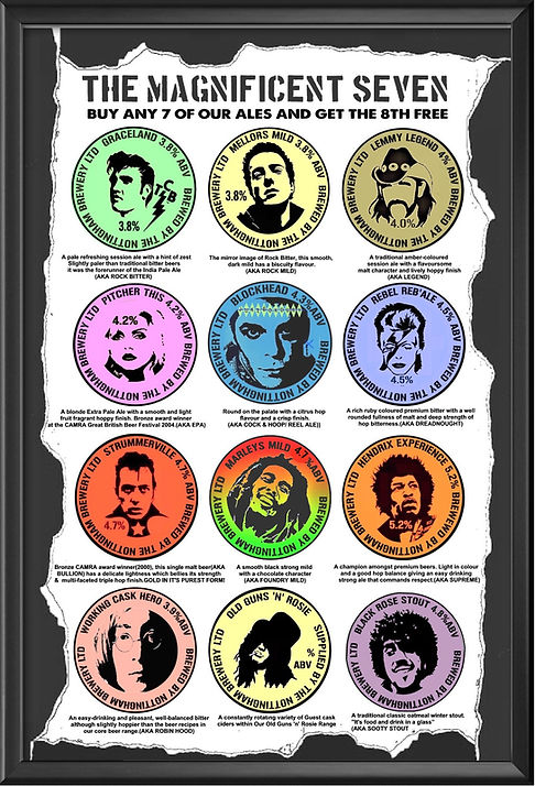 large ales tasting notes menu framed.jpg