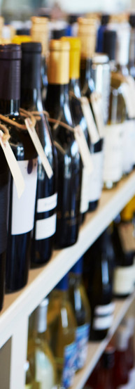 bottles-of-wine-on-display-in-delicatess