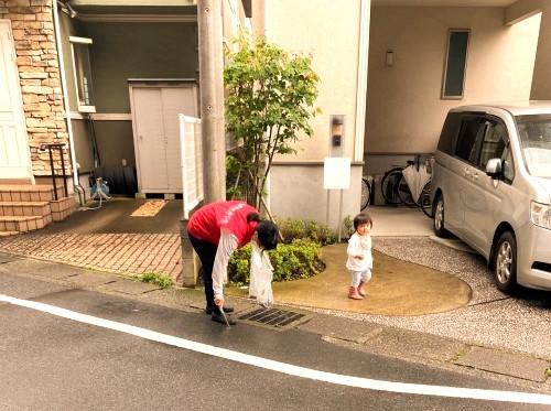 教会周辺の清掃ボランティア活動