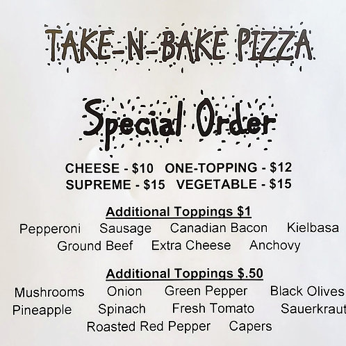 """16"""" Special Order Pizza"""