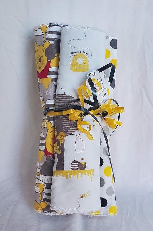 Winnie Pooh Burp Clothe (Set of 3)