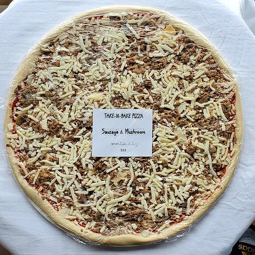 """16"""" Sausage & Mushroom Pizza"""