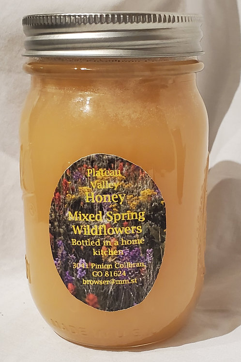 Plateau Valley Honey (Mixed Spring Wildflowers 24oz)
