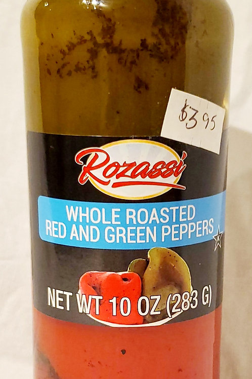 Whole Roasted Red and Green Peppers