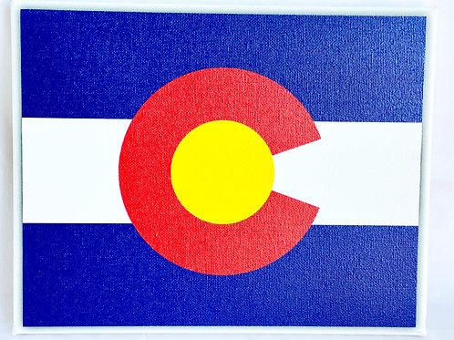 Colorado Flag on Canvas (Wall Art)