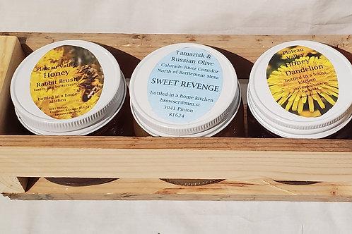 Honey Gift Box (16oz Dandelion, Rabbit Brush, Sweet Revenge)