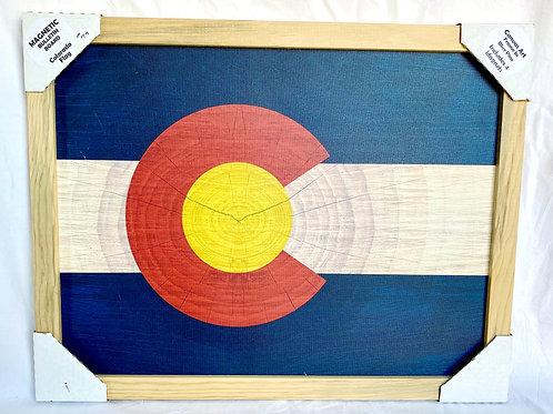 Colorado Flag Magnetic Bulletin Board