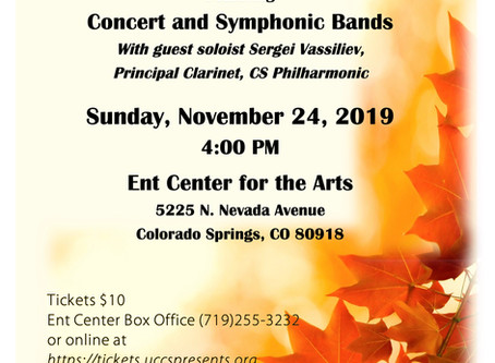 Fall 2019 Concert will be a Keeper!
