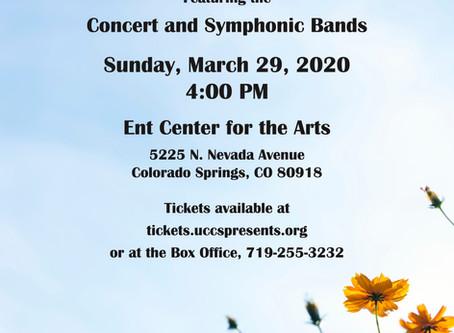 Spring Concert Schedule