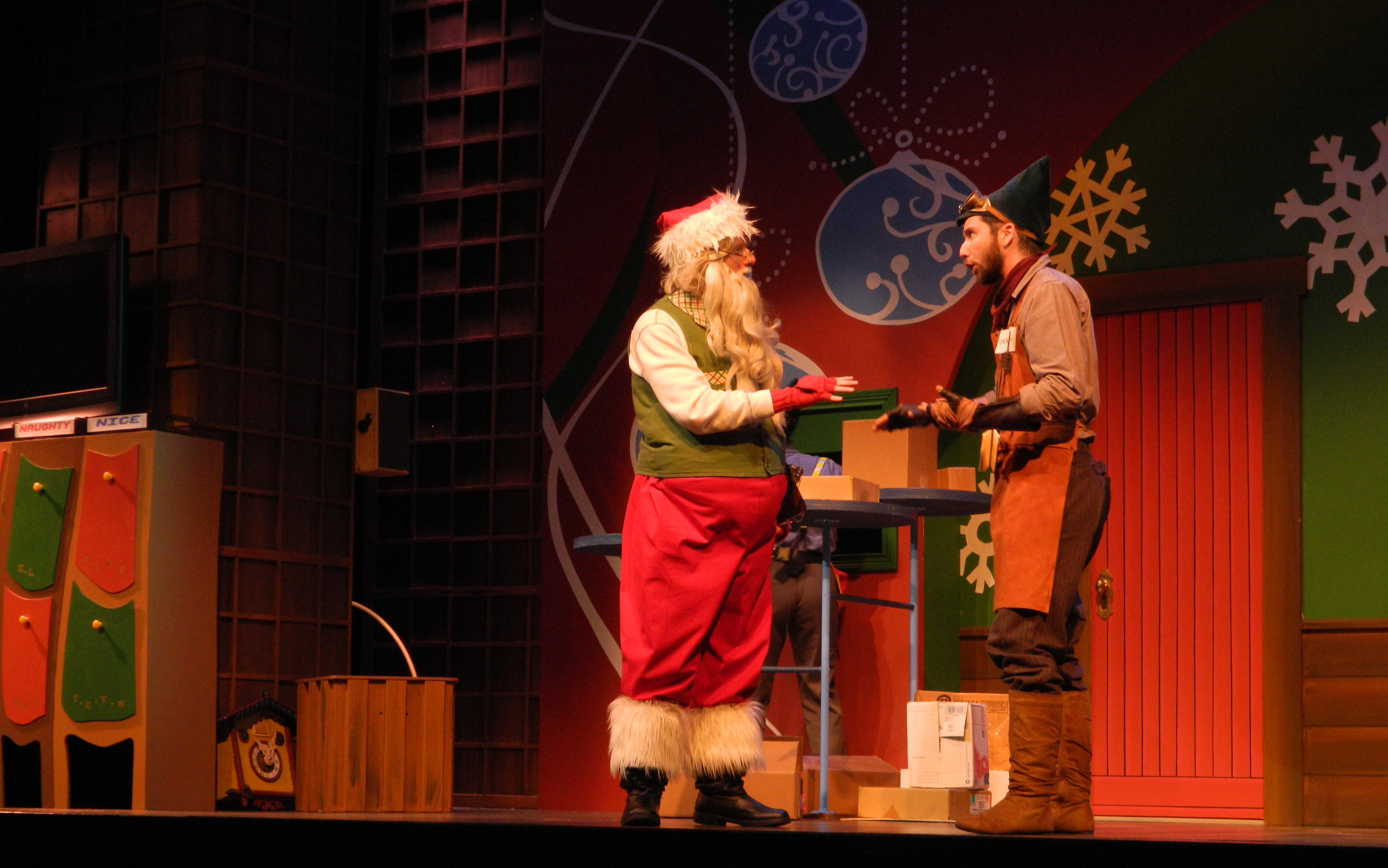 Tick Tock consults with Santa