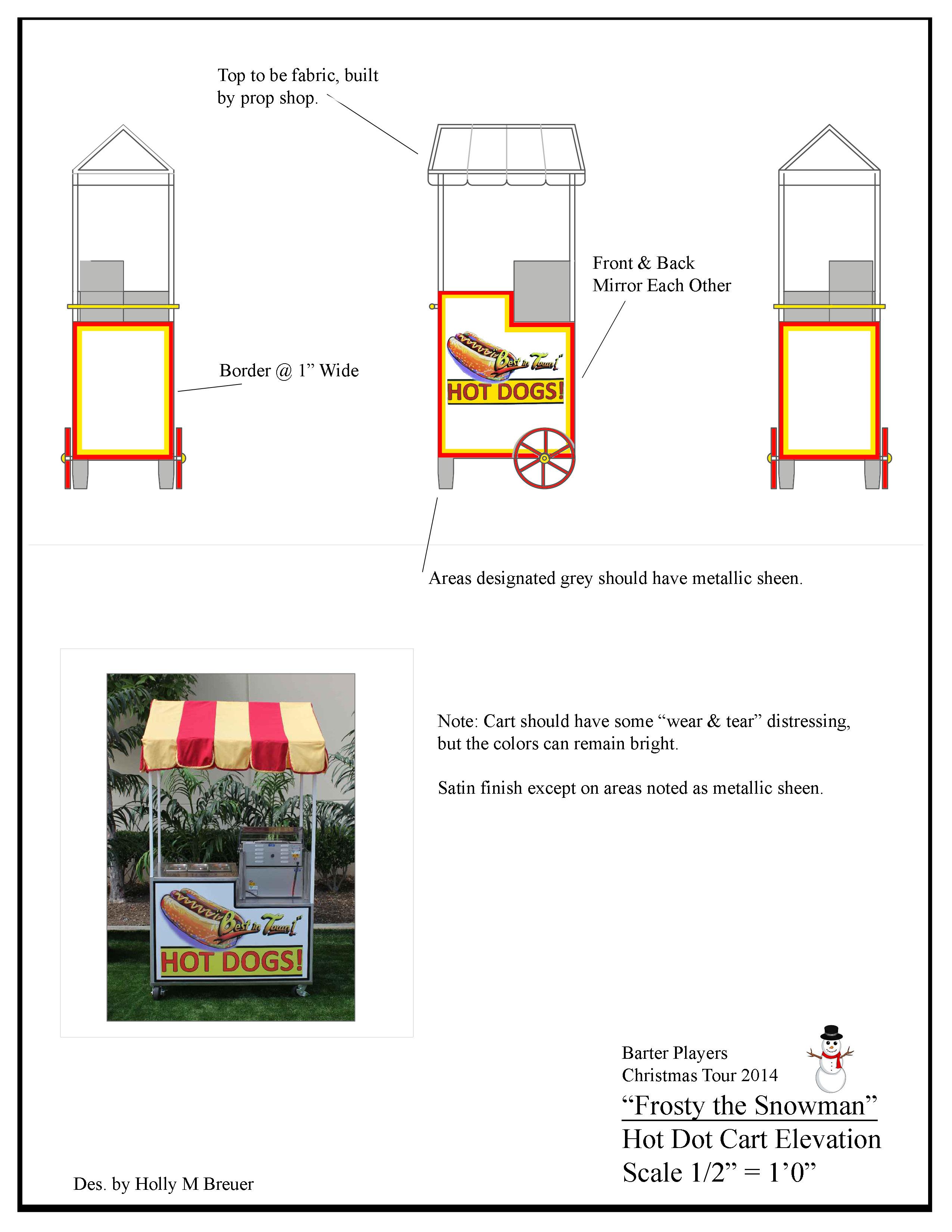 Hot Dog Cart Elevation