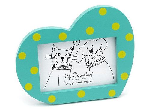 Aqua Heart Photo Frame