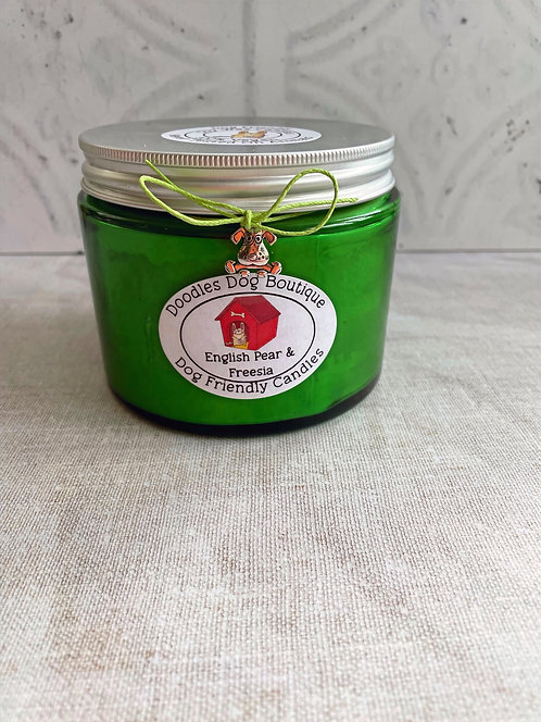 English Pear & Freesia Large Glass Candle