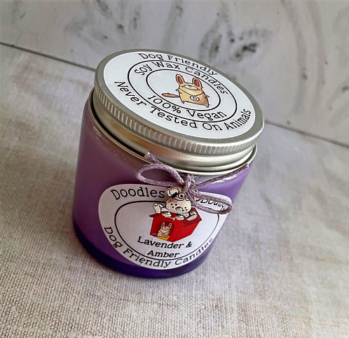 Lavender & Amber Small Glass Candle