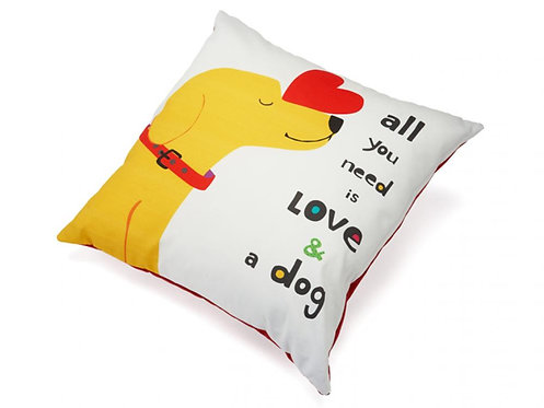 All You Need is Love & A Dog Decorative Cushion