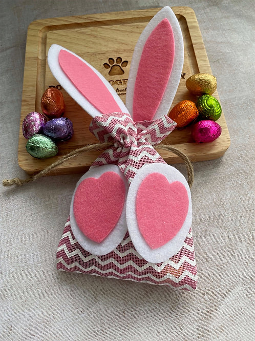 Easter Gift Pouch & Mini Eggs (Bunny)
