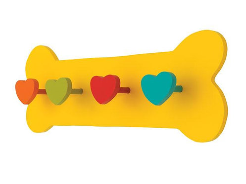 Yellow Bone Dog Lead Holder