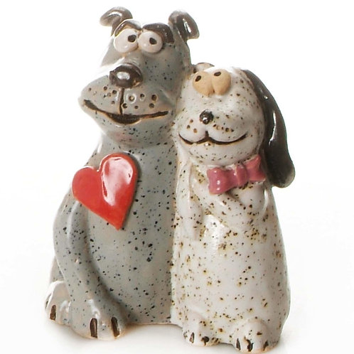 Love at First Sight Ceramic Dog Couple