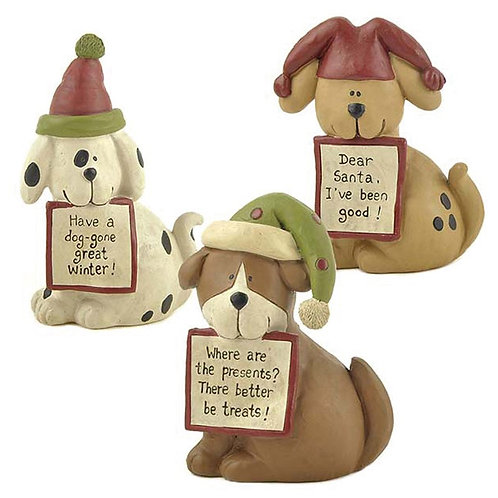 Dog with Hats Christmas Decoration