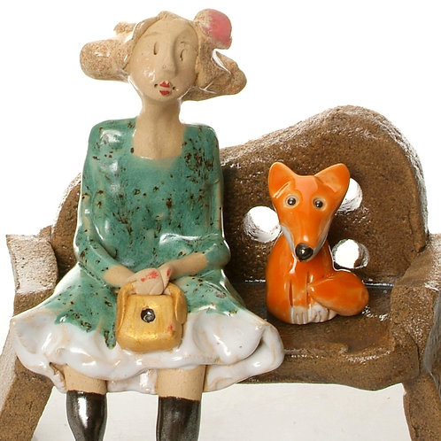 Lady on Bench -Fox