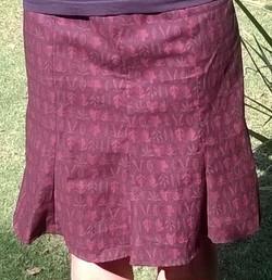 Christine's skirt close up