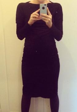 Carike's black dress