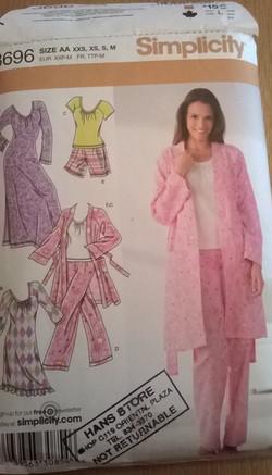 Simplicity Pajamas and gown