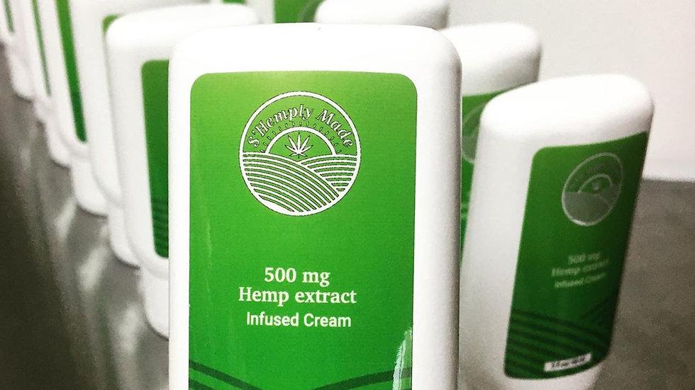S'Hemply Made | 500 mg Hemp Extract Infused Cream