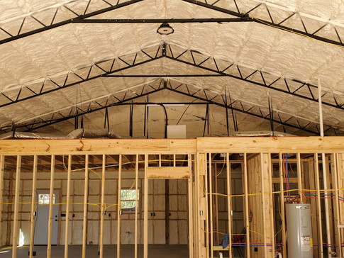 Large Workshop Walls and Roof Deck with Open Cell Foam